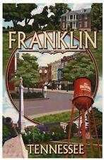 Franklin Tennessee Montage Downtown Water Tower near Nashville - Modern Postcard