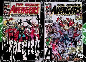 Avengers 249-255 Full Run 1984-85 Marvel Comics Rambeau Thanos Vision Thor Hulk