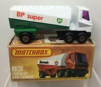 Lesney Matchbox Superfast 75 Series  Freeway Gas Tanker 63 MIB