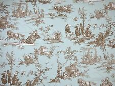 G.P. & J. Baker THE SEASONS Toile AQUA Drapery Home Decor Designer Fabric BTY