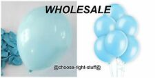 "WHOLESALE 10"" Latex Plain Balloons 100-5000 Job Lot Mix Colour For All Occassion"