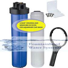 Big Blue Dual 4.5x20' Housing  Mixed Bed DI. Carbon Filters. Car Wash/Aquariums