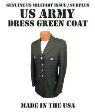 US ARMY MILITARY SERVICE DRESS GREEN UNIFORM COAT JACKET MEN'S 41R CLASS A / B