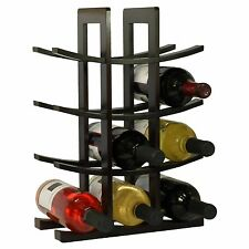 Wood Wine Rack 12 Bottle Display Holder Kitchen Shelf Bar Storage Decor