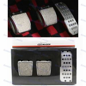Car Foot Rest Fuel Brake MT Pedals For Honda Accord Civic Del Sol Fit RSX Mugen