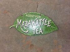 "Porcelain Mazawattee Tea Enamel Sign size 8"""