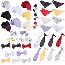 DQT Men's Passion Evening Wedding Groom Work Ties/Bow Tie/Cravat/Hankie/Cufflink