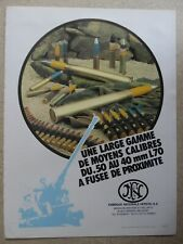 6/1984 PUB FN HERSTAL DEFENSE SECURITE MOYEN CALIBRE .50 40 MM L70 FRENCH AD
