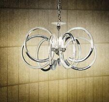 Lampadario contemporaneo design in cristallo foglia argento BELL vogue 1808/L3L