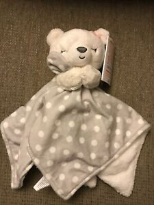 NWT Carters Just One You Bear White Polka Dots Security Blanket Target Lovey Toy