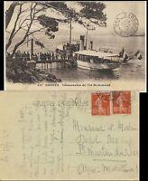 """FRANCE - 1920 CàD """"GARE DES ARCS / VAR"""" sur CPA affranchie 2xYv.138"""