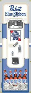 Pabst Blue Ribbon Beer Vintage Vending Machine 2'X6' Vinyl Banner