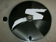 MAVIC COMETE /  SPECIALIZED CARBON REAR DISC WHEEL, 700c, TUBULAR, BLACK, VGC