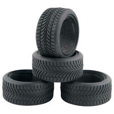 Racing Speed Rubber Sponge Tires Tyre For HSP 1:10 On-Road Car 6085 4pcs