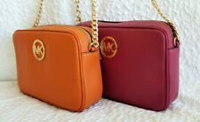👜 NWT MICHAEL KORS FULTON LARGE EAST WEST LEATHER CROSSBODY BAG