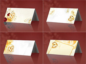 25 edle Tischkarten Platzkarten - versch. Motive - Hochzeit Namenskarten