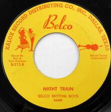 BELCO RHYTHM BOYS 45 Night Train R&B Instro w/ Dance Calls Sheet w 738