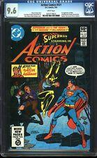 Action Comics 521 CGC 9.6 WP Bronze Age Key DC Comic 1st App Vixen IGKC L@@K