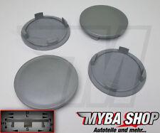 4x hub cap Tapacubos 64mm Buje de rueda llantas tapa en gris PLAN