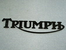 Triumph Motorcycle Black Swooping R Sign