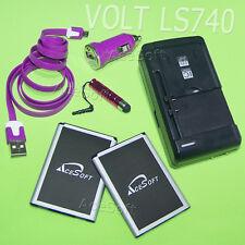 3370mA Battery Car Charger Data Pen for LG VOLT LS740 Virgin Mobile/Boost Mobile