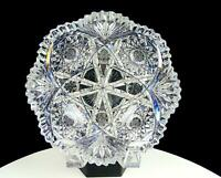 "ABP AMERICAN BRILLIANT PERIOD CUT CRYSTAL HOBSTAR FORKED FANS 7"" BOWL 1890-1915"