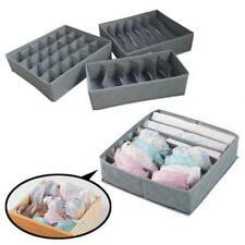 3Pcs Closet Organizer Box For Underwear Bra Socks Ties Di Scarves Drawer Storage