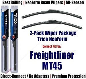 2pk Super-Premium NeoForm Wipers fit 1998-2007 Freightliner MT45 16240x2