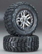 Traxxas Slash SCT Split Spoke Satin Chrome Black w/ Kumho Tire 2WD FR TRA5882