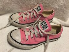 f0a4c41bb919 Used Worn Converse All Star Youth sz 2.5 Pink Unisex basketball shoes boy  girl