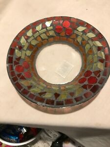 Yankee Candle Dish Stained Glass Look New With Tag