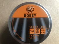 RWS Hobby  Air gun Pellets .22 / 5.50mm Qty 500 Free P&P