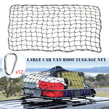 Large Car Van Roof Luggage Net Elastic Mesh Top Rack Cover Carrier Cargo Buckles