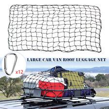 Large Car Van Roof Luggage Net Elastic Mesh Top Rack Cover Carrier Cargo Buckles