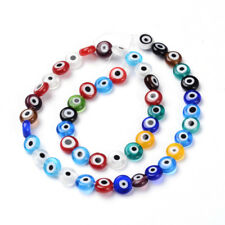 45pc/Strd Creative Handmade Lampwork Glass Beads Evil Eye Round Loose Spacer 8mm