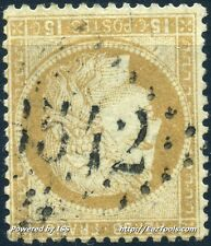 FRANCE CERES N° 55 OBLITERATION GC 3542 SAINT CHEF ISERE COTE 67.50€