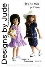 """Play & Frolic Doll Clothes Sewing Pattern for 12"""" Senson Dolls"""