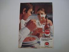 advertising Pubblicità 1969 BIRRA BEER DREHER