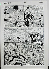 JACK KIRBY'S TEENAGENTS #3 PAGE 11 1993 ORIGINAL ART-NEIL VOKES & JOHN BEATTY Comic Art