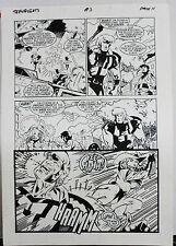 JACK KIRBY'S TEENAGENTS #3 PAGE 11 1993 ORIGINAL ART-NEIL VOKES & JOHN BEATTY