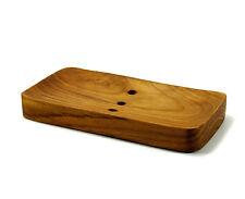 New Handmade Teak Wood Soap Dish Hand craft Natural Wooden Soap Holder Bathroom