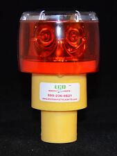 S6LRF 1NM RED LED SOLAR REVOLVING OR FLASHING LIGHT LIGHTHOUSE BARRICADE