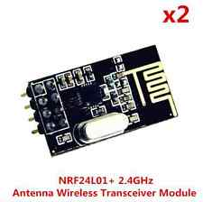 2pcs NRF24L01+ 2.4GHz Antenna Wireless Transceiver Module for Microcontroll