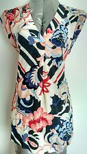 Brand New MONSOON long blouse top size 8 floral print 100% Viscose