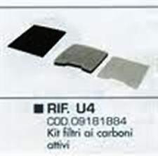 Kit Filtri Hoover Telios U4 Carboni Filtri Originali Aspirapolvere Hoover (U18)