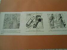 Caricature 1893  - Plan du tramway Tubulaire introduction Voyageur 1ere classe