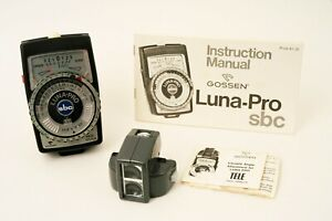 Gossen Luna Pro SBC Light Meter with Gossen Variable Angle Attachment / Manuals