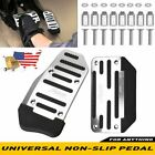 [silver] Non-slip Automatic Gas Brake Foot Pedal Pad Cover Car Accessories Parts