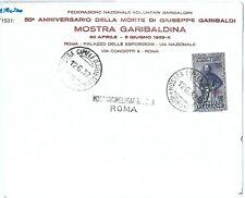 71501 - EGEO Rodi - Storia Postale: 5 L. GARIBALDI isolato su BUSTA Filatelica
