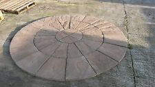 BRADSTONE WETHERDALE 2.4 DIAMETER CIRCLE CHOCOLATE COLOUR 40MM THICK. £125  EACH
